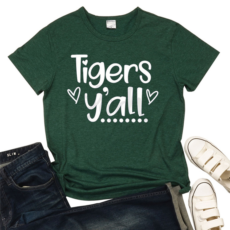 Tigers y'all Green Tee