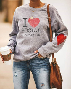 I Love Social Distancing Sweatshirt