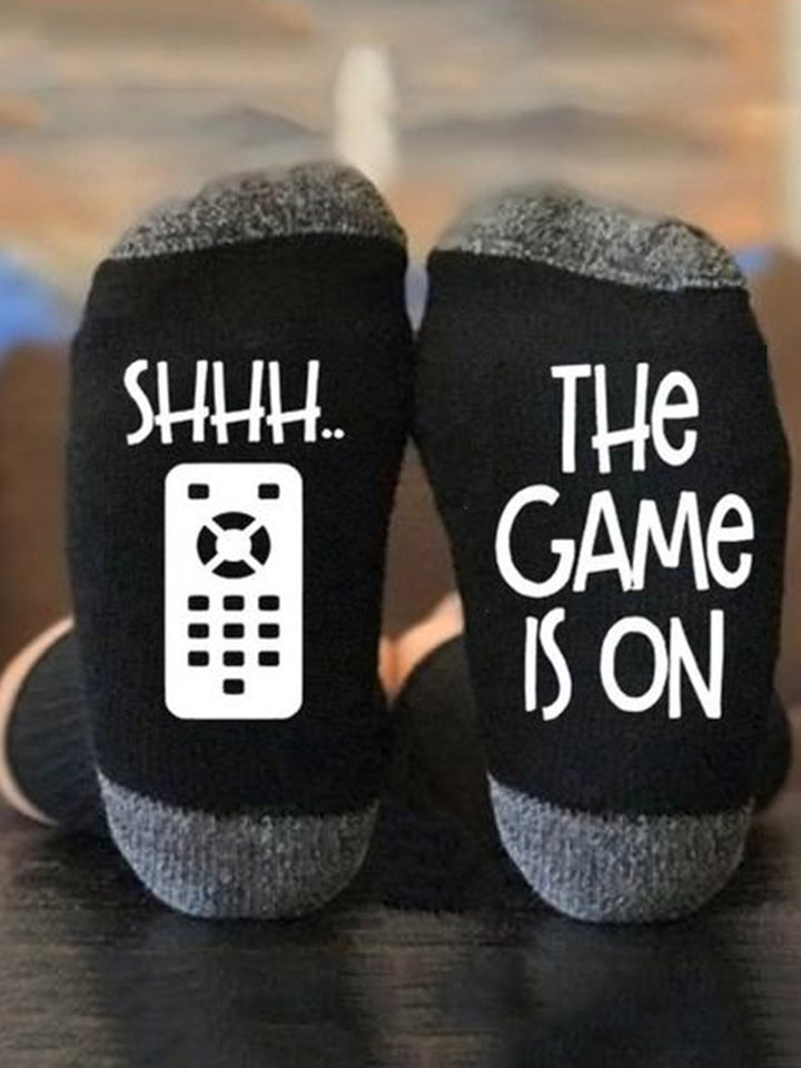 Shhh...The Game is On Socks