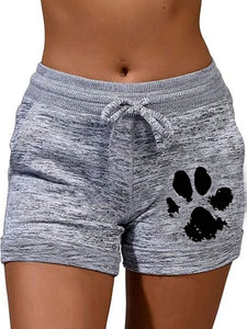 Dog Paw Print Shorts