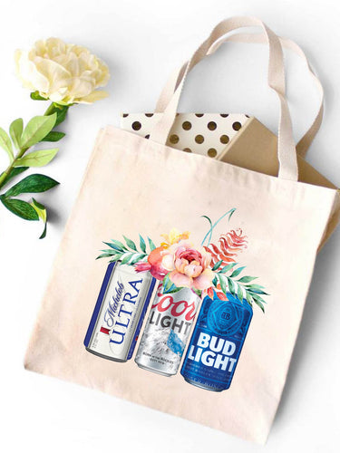 Coors Light Bud Light Canvas Tote Bag