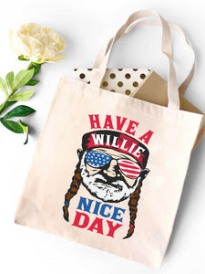 Willie Nice Day Canvas Tote Bag