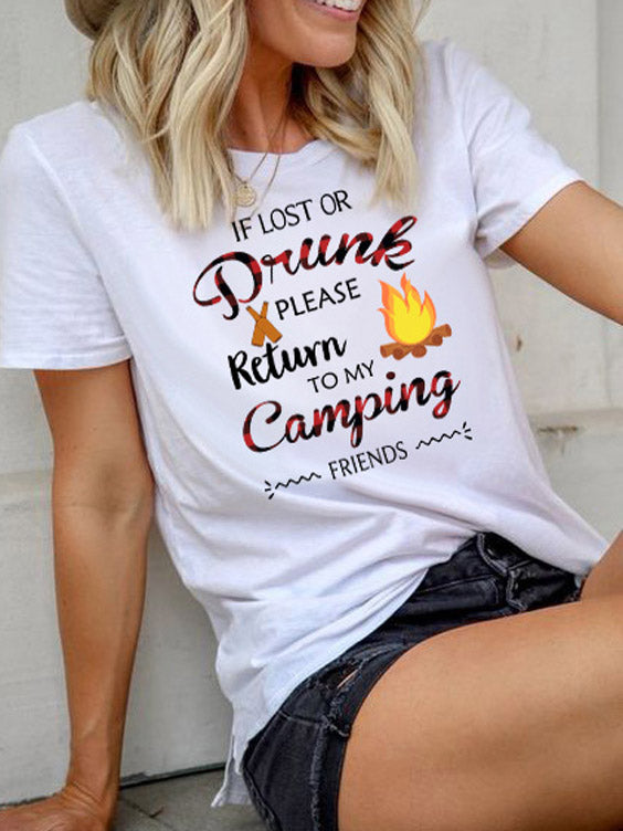 If Lost Or Drunk Retrun To My Camping T-shirt