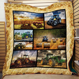 Farming Tractor Blanket Quilt 1
