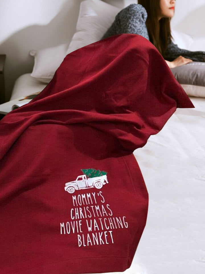 Mommys Christmas Movie Watching Blanket