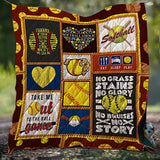 Eat Sleep Play Softball Blanket Quilt