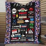 FRIENDS Classic Sentences Blanket Quilt