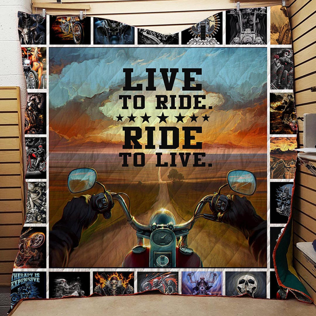 Live To Ride Blanket Quilt
