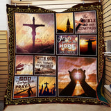 Jesus Give Us The Hope Blanket Quilt