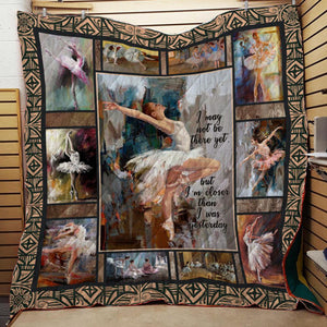 Closer Than Yesterday Ballet Blanket Quilt