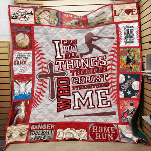 I Can Do Things Through Christ Strengthens me Blanket Quilt