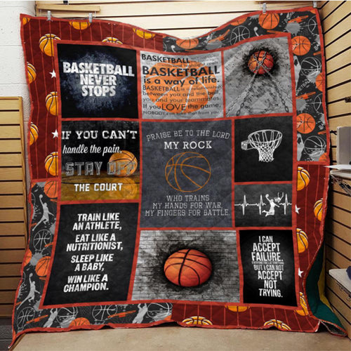 Basketball Not Stop Blanket Quilt