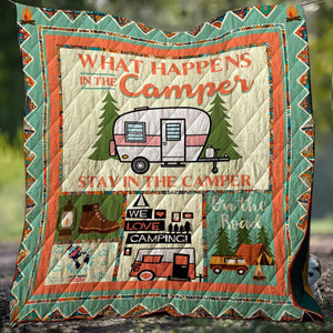 We Love Camping Blanket Quilt