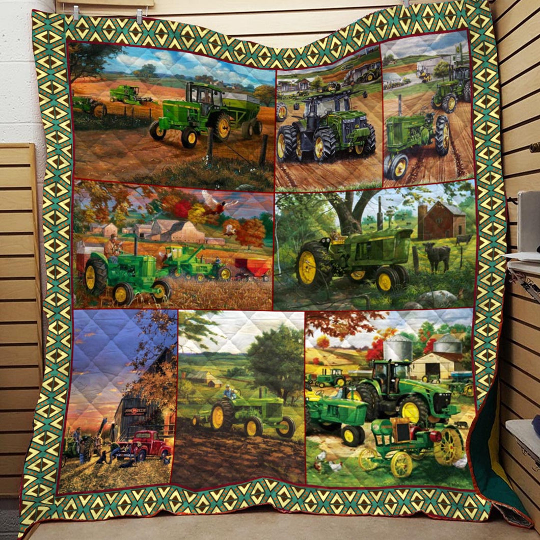 Farming Tractor Blanket Quilt