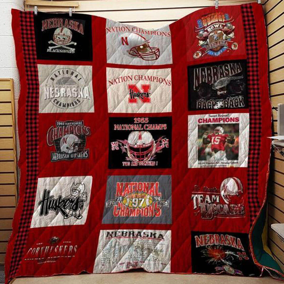 Nebraska Football Champion Blanket Quilt