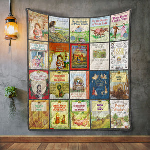 Laura Ingalls Wilder Books Blanket Quilt
