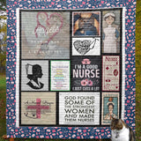Nurse Strongest Women Blanket Quilt