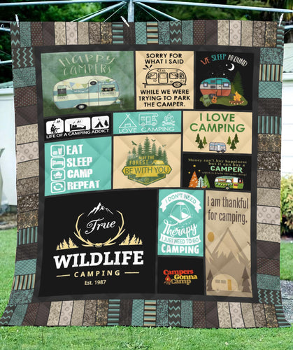 True Wildlife Camping Blanket Quilt
