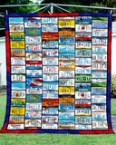 American State License Plates Blanket Quilt
