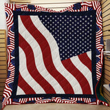 USA Flag Patriotic Blanket Quilt