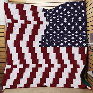 USA Flag Unique Design Blanket Quilt