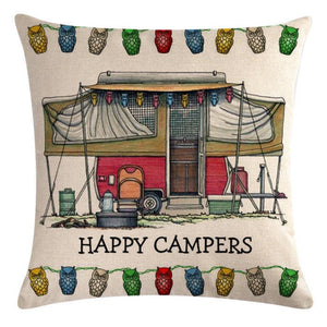Pop-up Camper Pattern Pillow Cover