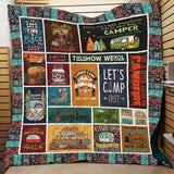 Summer Camp This is How We Roll Blanket Quilt