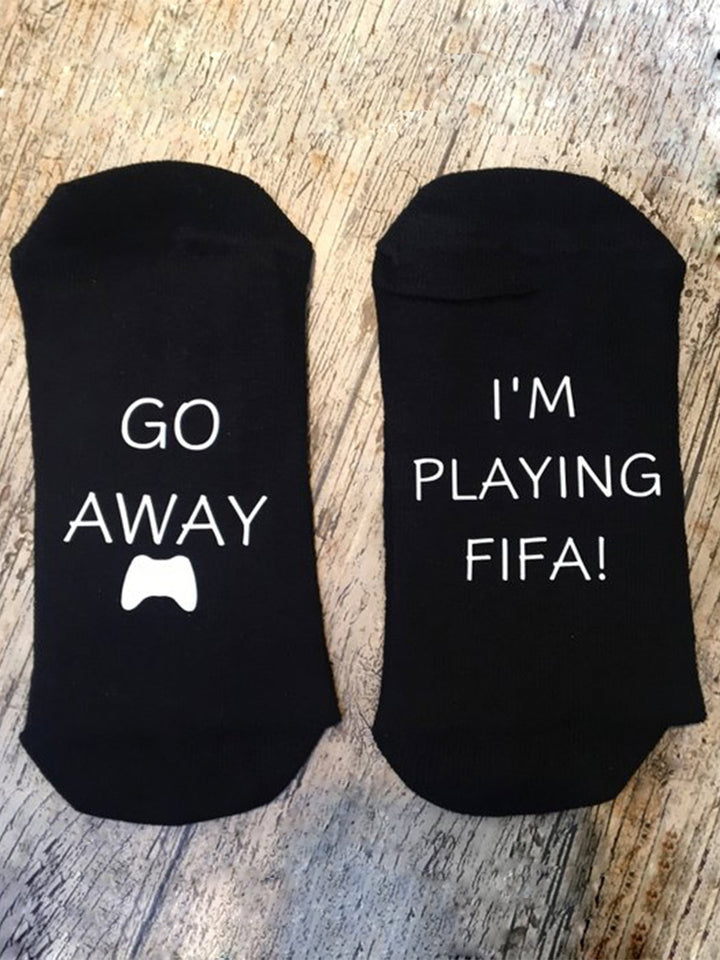Go Away I'm Playing FIFA Socks