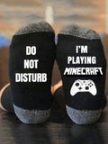 I'm Playing MineCraft Socks