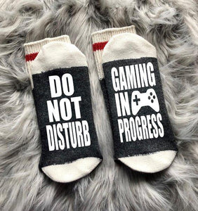 Do Not Disturb Gaming In Progress Socks