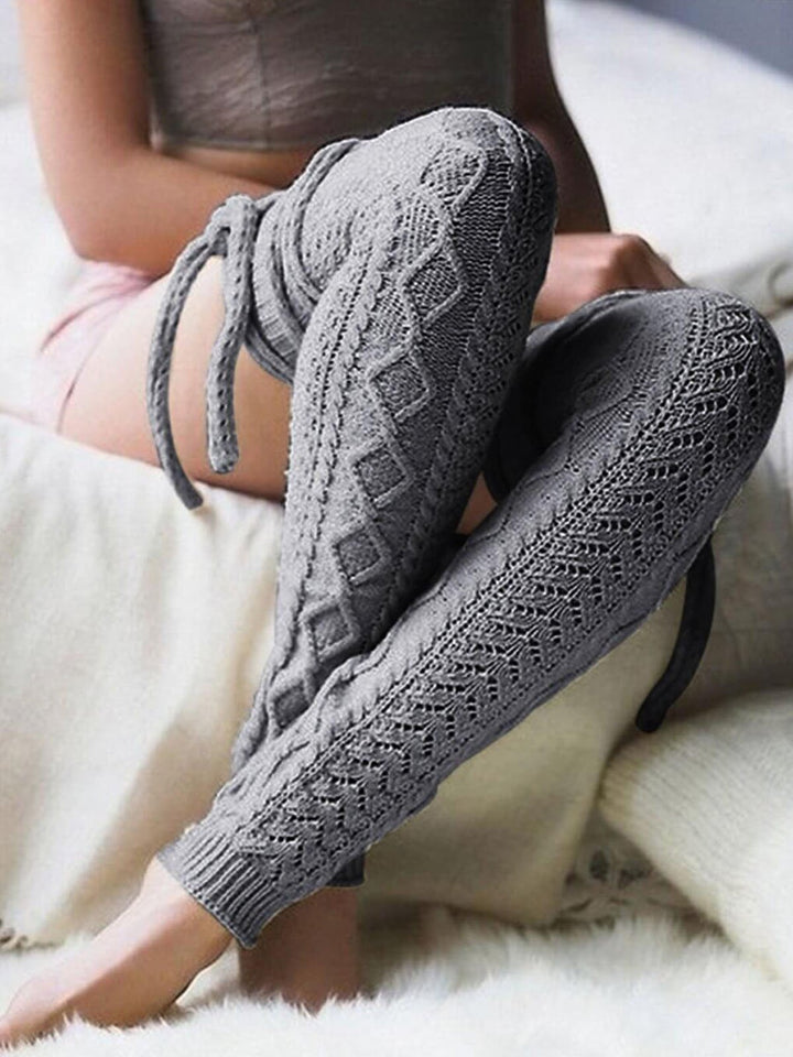 Solid Thick Warm Knee Length Socks
