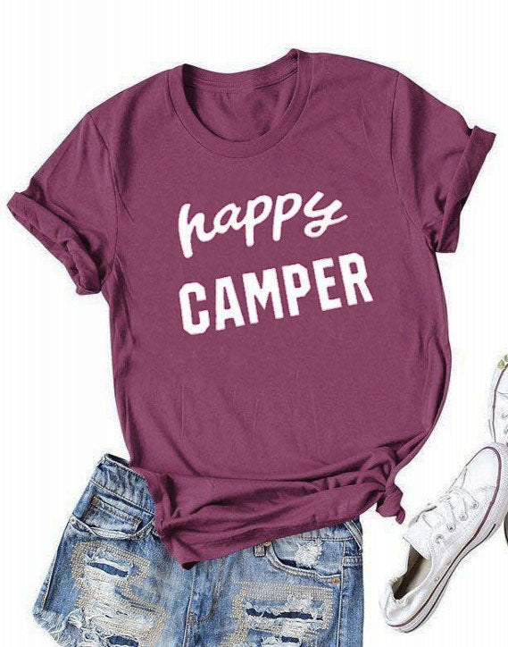 Happy Camper Short Sleeve T-shirt