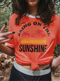 Sunshine Print Sleeve T-shirt