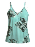 Tropical Print V-Neck Tank Top