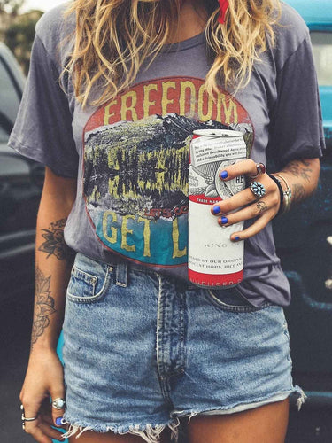 Freedom Let's Go Get Lost Tee