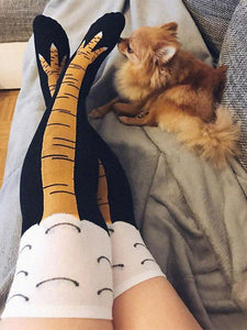 Chicken Paws Funny Thigh-High Socks