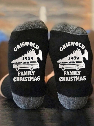 Griswold 1989 Family Christmas Socks