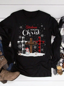 [PRE-SALE] Christmas Begins With Christ Long Sleeves Tee