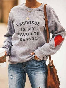 Lacrosse Is My Favorite Season Sweatshirt