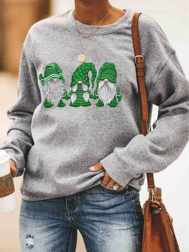 Hanging With Green Gnomies Sweatshirt