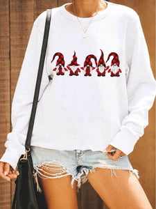 Plaid Hat Red Gnomies Sweatshirt