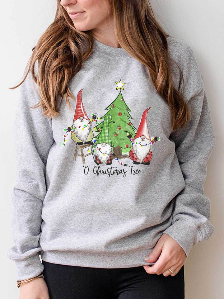 'O' Christmas Tree Gnomies Sweatshirt