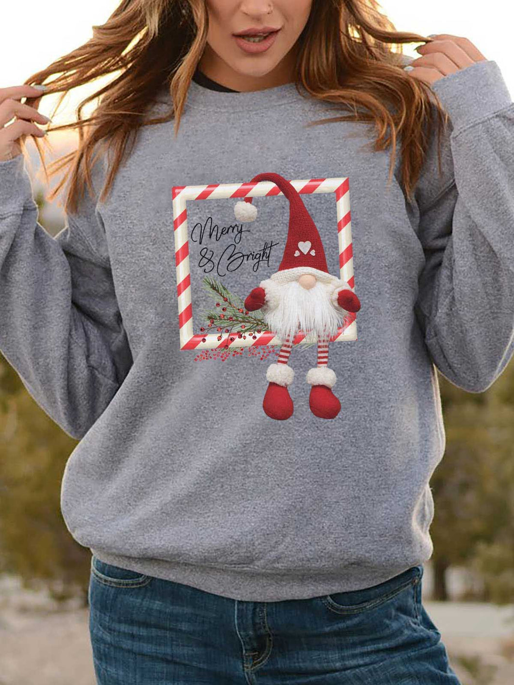 Merry & Bright Gnome Sweatshirt