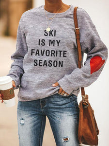 Heart Design Ski Is My Favorite Season Sweatshirt