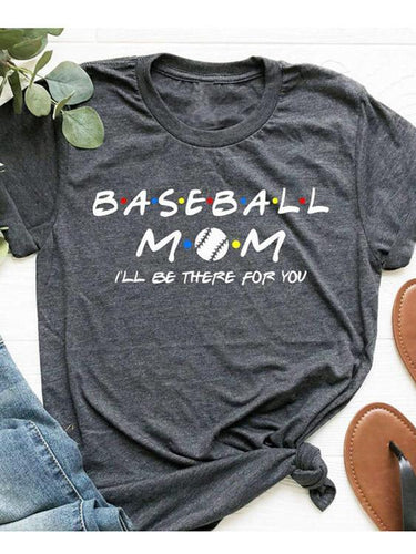 B.A.S.E.B.A.L.L M.OM I'll Be There For You Gray Tee