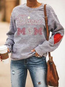 [PRE-SALE] Heart Design Dance Mom Shining Printed Sweatshirt