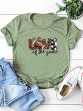 Football For The Love Of The Game Leopard Polka Dot Plaid Tee