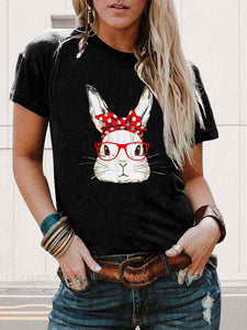 [PRE-SALE] Bunny With Polka Dot Butterfly Tie Red Glasses Tee