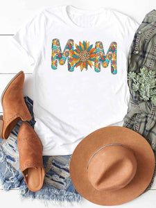 Colorful Floral Mom Pattern Tee