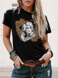Leopard Shade Dolly Parton Graphic Tee